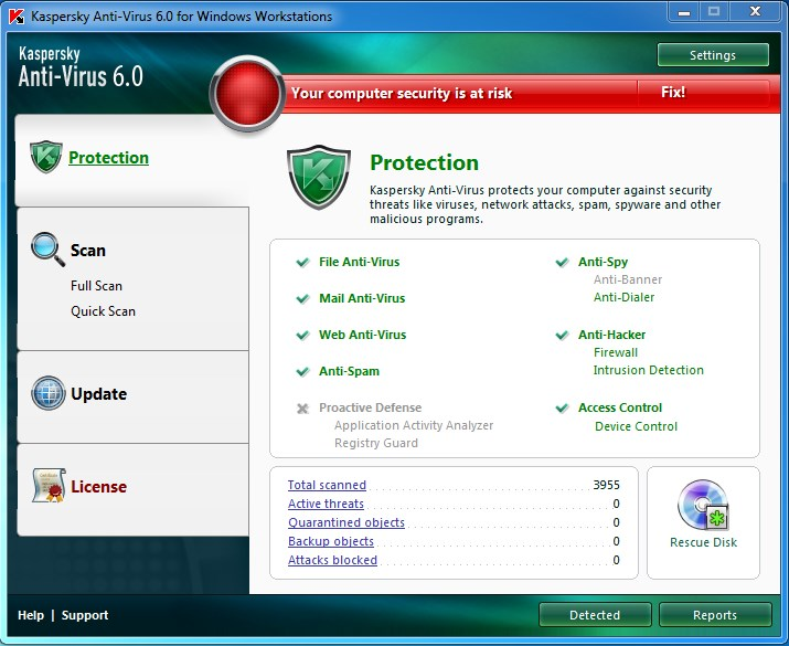 Kaspersky Antivirus 6.0