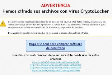 Recuperación de archivos encriptados por el virus Cryptolocker
