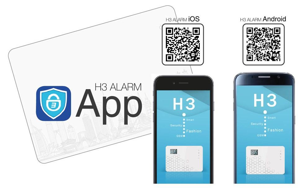 Kit Alarma GSM-SMS sin cuota mensual Aplicación móvil App Android-IOS