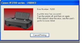 Canon ip2700 error 5200