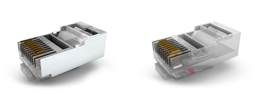 Conectores RJ-45 sin blindaje y con blindaje