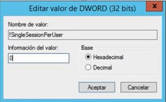 permitir sesiones remotas multiples windows server 2012 R2